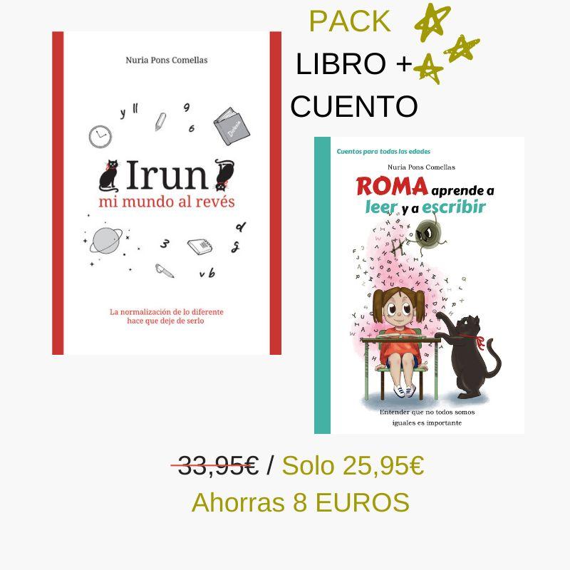Pack libro + cuento dislexia Irun mi mundo al revés